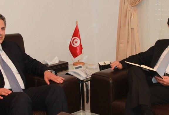 محمد الفاضل عبد الكافي يلتقي بالقائم بالأعمال بسفارة الأردن بتونس
