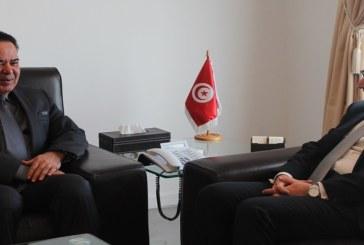 لقاء السيد محمد الفاضل عبد الكافي بسفير دولة قطر في تونس