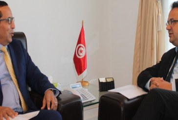 زياد العذاري والمدير الإقليمي للبنك الافريقي للتنمية  في تونس يستعرضان واقع التعاون وبرامجه للفترة القادمة