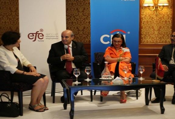 """اختتام برنامج مؤسسة """" التلعليم من أجل التشغيل – تونس """"( EFE-Tunisie ) بمساندة مؤسسة  CITI Foundation   لسنة 2018"""
