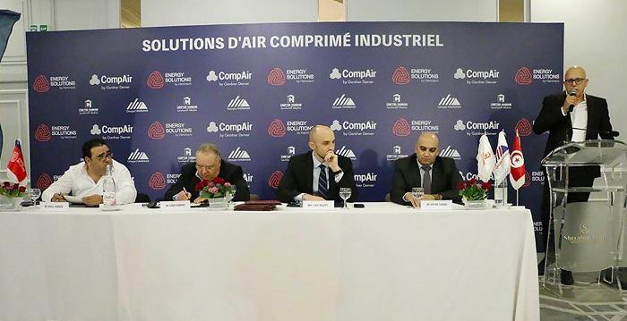 """إمضاء اتفاقية شراكة بين """" ENERGY SOLUTIONS """" والمصنّع الألماني """" COMPAIR """""""