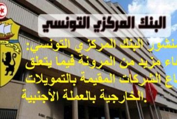 منشور البنك المركزي التونسي عدد 13 لسنة 2020 بتاريخ 02 جوان 2020: إضفاء مزيد من المرونة فيما يتعلق بانتفاع الشركات المقيمة بالتمويلات الخارجية بالعملة الأجنبية.
